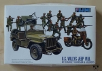 U.S. Willys Jeep M.B. with Harley Davidson & Soldiers, 1/76, Fujimi 76015, model plastikowy
