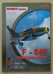 F - 84F Thunderstreak, skala 1:33, Hobby Model 2/2010 Nr kat. 0101, model kartonowy
