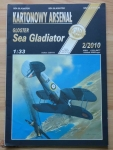 Gloster Sea Gladiator, skala 1:33, Kartonowy Arsenał 2/2010, model kartonowy