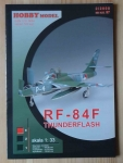 RF-84F Thunderflash, skala 1:33, Hobby Model 2/2008, nr kat. 97, model kartonowy