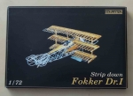 Fokker Dr.I, Strip down, 1/72, Eduard 7013, model z blaszek i model plastikowy