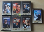 Złota Kolekcja James Bond 007. Sean Connery, George Lazenby, 7 kaset VHS