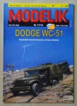 Dodge WC-51, skala 1:25, Modelik 11/10, model kartonowy