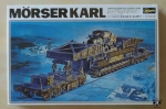 "Morser Karl. German Morser ""Karl"" on Railway Carrier, 1/72 scale, model plastikowy"