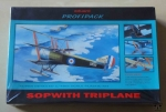 Sopwith Triplane with skies, 1/48th scale, Eduard Profipack 8073, model plastikowy