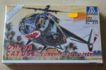 Helikopter OH-6A Cayuse Gunship Helicopter, 1:72 Scale, Italeri No 028, model plastikowy