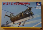 "H-21 C ""Gunship"", 1:72 scale, Italeri  No 1203, model plastikowy"