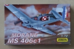 Morane MS 406c1, skala 1:72, Intech Cat. No. T46, model plastikowy
