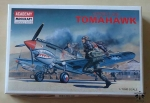Curtiss P-40B Tomahawk, 1/72 nd Scale, Academy 1655, model plastikowy