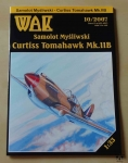 Curtiss Tomahawk Mk.IIB, 1:33, WAK 10/2007, model kartonowy