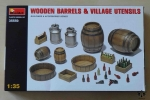 Wooden Barrels & Village Utensils 1:35, MiniArt 35550, model plastikowy