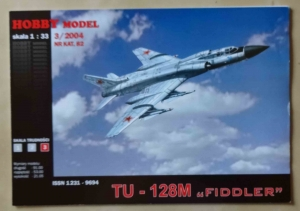 "Tu - 128M ""Fiddler"", skala 1:33, Hobby Model 3/2004 Nr kat. 82, model kartonowy"