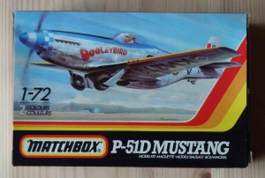 North American P-51D Mustang, 1-72, Matchbox , model plastikowy