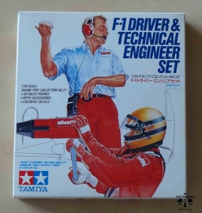 F-1 Driver & Technical Engineer Set, 1/20 Scale Grand Prix Collection No.27, Tamiya 20027-300, model plastikowy