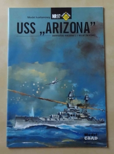 "USS ""Arizona"", skala 1:200, Model CARD Nr 97, model kartonowy"