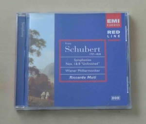 "Franz Schubert, Symphonies Nos. I and 8 ""Unfinished"", Wiener Philharmoniker, Riccardo Muti, płyta CD"