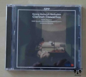 Georg Heinrich Backofen, Clarinet Concertos, CD