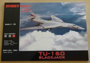 Tu-160 Blackjack, skala 1:33, Hobby Model 2/2005, Nr kat. 87, model kartonowy