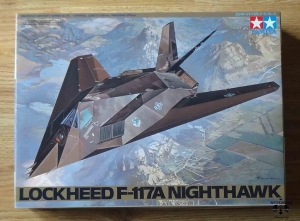 Lockheed F-117A Nighthawk, 1/48 Scale Aircraft Series No. 59, Tamiya 61059 3800, model plastikowy