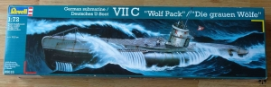 "German submarine VII C ""Wolf Pack"", Revell 05015, 1:72, model plastikowy"