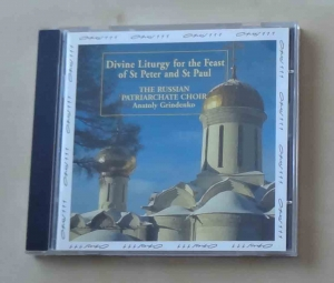 Divine Liturgy for the Feast of St Peter and St Paul, The Russian Patriarchate Choir, Anatoly Grindenko, płyta CD