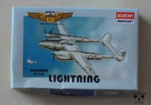 Lockheed P-38J Lighting, WWII 50 Anniversary Collection - 10, 1/144th scale, Academy Minicraft 4410, model plastikowy