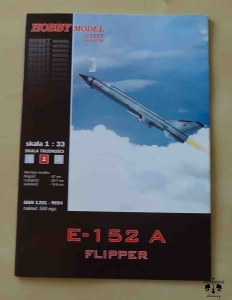 E-152 A Flipper, skala 1:33, Hobby Model 3/2005, Nr kat. 88, model kartonowy