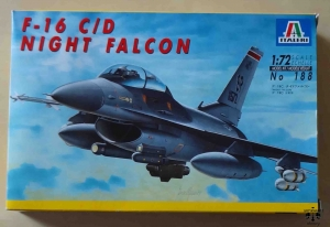 F-16 C/D Night Falcon, 1:72 scale, Italeri No 188, model plastikowy
