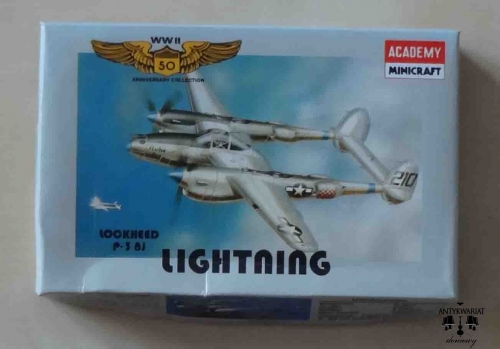 Lockheed P-38J Lighting, WWII 50 Anniversary Collection - 10, 1/144th scale, Academy Minicraft 4410, model plastikowy.jpg